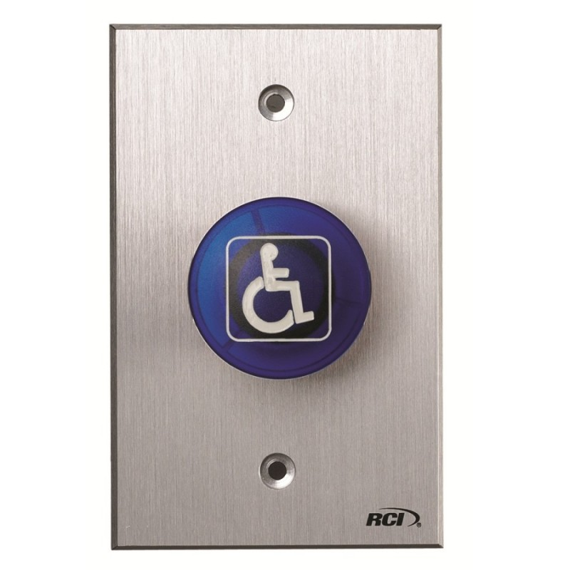 Rci 916 Tamper Resistant Handicapped Mushroom Buttons Blue