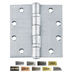 """Cal-Royal BB545 Full Mortise Standard Weight Two Ball Bearing Hinges 5"""" x 4 1/2"""""""