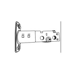 Cal-Royal ED500ADJ Round Corner Adjustable Latch Bolt