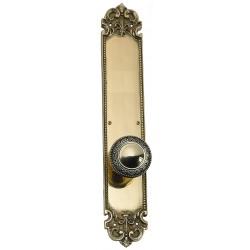 "Brass Accents D04-K322G Fleur De Lis 18"" Plate"