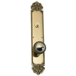 """Brass Accents D04-K322J Fleur De Lis 18"""" Plate"""