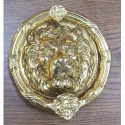 "Brass Accents A07-K51 Leo Lion Door Knocker 8-3/8"""