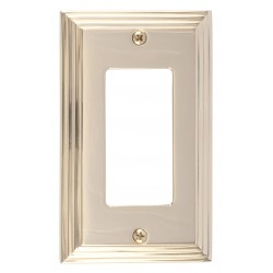 Brass Accents M02-S2520 Classic Steps Single GFCI