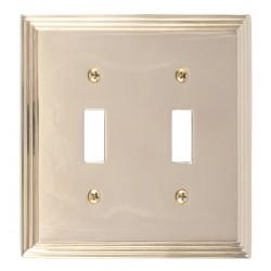 Brass Accents M02-S2530 Classic Steps Double Switch