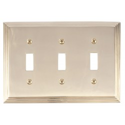 Brass Accents M02-S2550 Classic Steps Triple Switch