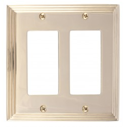 Brass Accents M02-S2570 Classic Steps Double GFCI