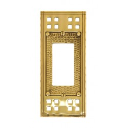 "Brass Accents M05-S5620 Arts & Crafts Single GFCI (2-3/4"" X 6-1/2"")"