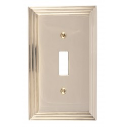 Brass Accents M02-S2500 Classic Steps Single Switch