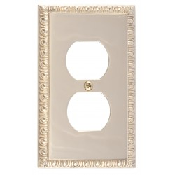 Brass Accents M05-S7510 Egg & Dart Single Outlet