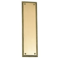Brass Accents A06-P0240 Rope Push Plate 3 x 12""