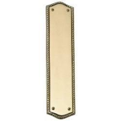 Brass Accents A06-P0250 Oval Rope Push Plate
