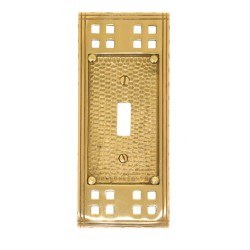 "Brass Accents M05-S5600 Arts & Crafts Single Switch (2-3/4"" X 6-1/2"")"