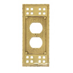 "Brass Accents M05-S5610 Arts & Crafts Single Outlet (2-3/4"" X 6-1/2"")"