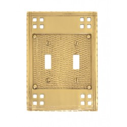 "Brass Accents M05-S5630 Arts & Crafts Double Switch (4-1/2"" X 6-1/2"")"