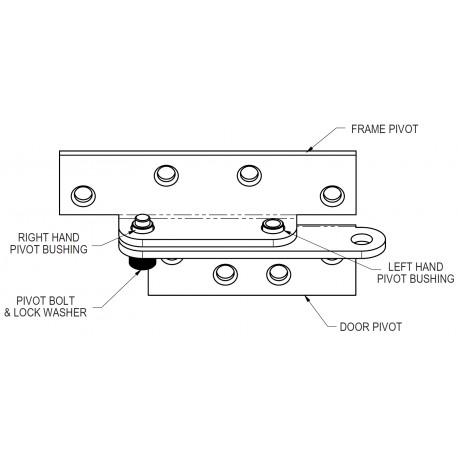 Adams Rite B1921 U0026 B1923 Full Surface Reinforcing Pivots For Flush Doors