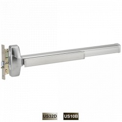 Cal-Royal MR7700 (Non-Fire Rated) & FMR7700 (Fire Rated) Narrow Stile Rim, Concealed Vertical Rod Exit Device, ANSI 156.3 Grade