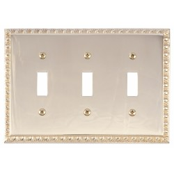 Brass Accents M05-S7540 Egg & Dart DBL 1-SW/1-OUT