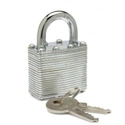 Zephyr 18051 Steel Laminated Padlock, 2 Keys/Lock, Keyed Different
