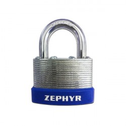 Zephyr 18064 Steel Laminated Combination Padlock w/ Plastic Bump Guard