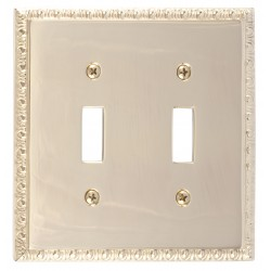 Brass Accents M05-S7530 Egg & Dart Double Switch