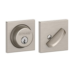 Schlage B60 COL Single Cylinder Deadbolt with Collins Decorative Rose