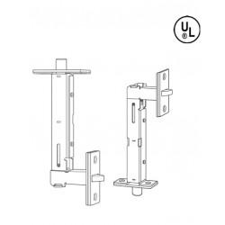 Cal-Royal FB820 Metal & Wood Door Universal Flush Bolts