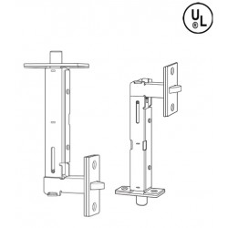 Cal-Royal FB780 Metal & Wood Door Universal Flush Bolts in Satin Stainless Steel
