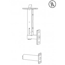 Cal-Royal FB930 Metal & Wood Door Universal Flush Bolts