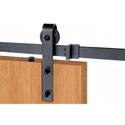 Cal-Royal BDH Series Black Barn Door Hardware for Wood Doors