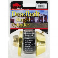Value Brand 39563 Single Cylinder Deadbolt Grade 3