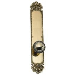 """Brass Accents D04-K322A Fleur De Lis 18"""" Plate"""