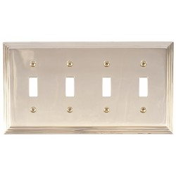 Brass Accents M02-S2591 Classic Steps Quad Switch