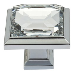Atlas 340 Legacy Crystal Square Knob