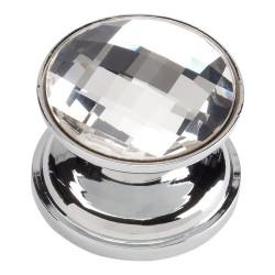 Atlas 3197-CH Large SWAROVSKI Crystal Round Knob
