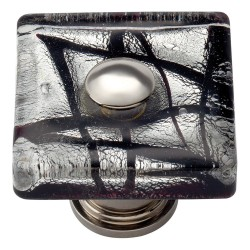 "Atlas 3207-CH Eclipse Glass Square Knob, Size- 1-1/2"", Finish- Polished Chrome"