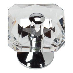 "Atlas 3209 Crystal Large Square Knob, Size- 1-1/2"""