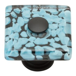 Atlas 3225-BL MARINE Square Glass Knob