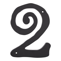 ATLAS-SCN2L Large Scroll House Number Black 2