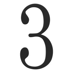 ATLAS-TRN3 TRADITIONAList House Number Black 3