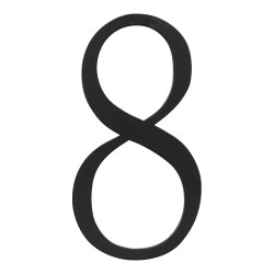 ATLAS-TRN8 TRADITIONAList House Number Black 8