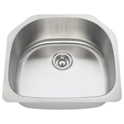 Polaris P1242 Undermount Single D-Bowl Stainless Steel Sink