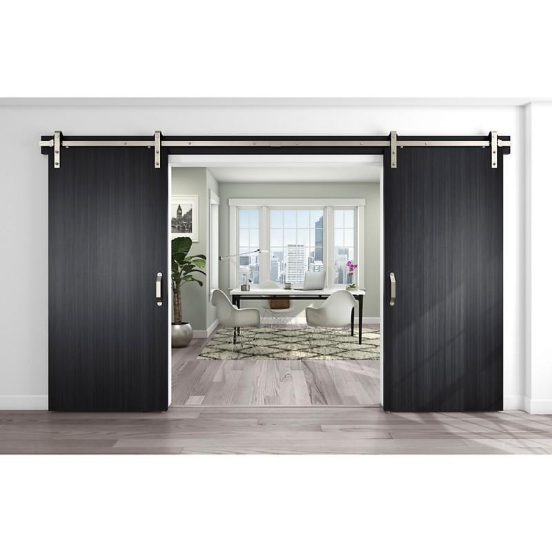 Stanley national n186 962 960 decorative barn door track for Track doors interior