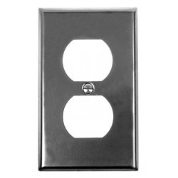 Acorn AW Duplex Smooth Iron-Steel Wall Plate