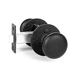 "Acorn RU Passage Rough Iron Double Knob Set - 2 3/8"""