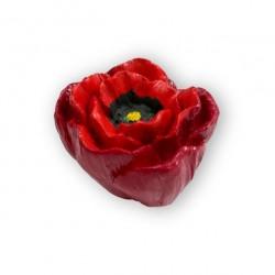 SIRO 101-H123 Floweres Red and Yellow Poppy Knob