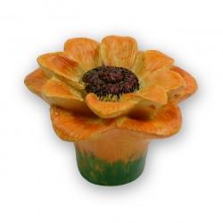 SIRO 101-H125 Floweres Yellow and Orange Sunflower Knob