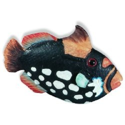 SIRO-H026-67 Caribe Black & WhiteSpeckle Fish KNOB