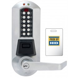 KABA E-Plex 5700 Series Heavy Duty Grade 1 Electronic Pushbutton PIN/HID Prox Cipher Door Lock with Lever
