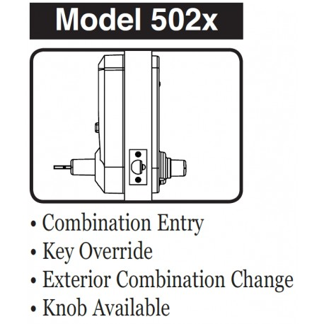 details: kaba 5025bwl26d cipher mechanical push button door lock with lever