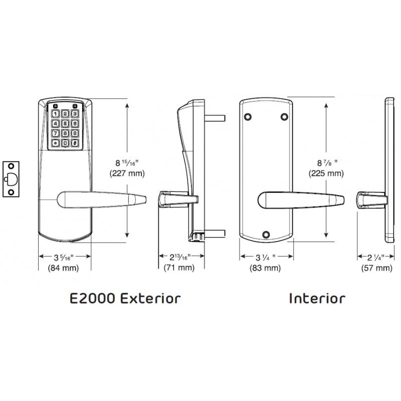 Kaba E Plex 2000 Series Electronic Keyless Pushbutton